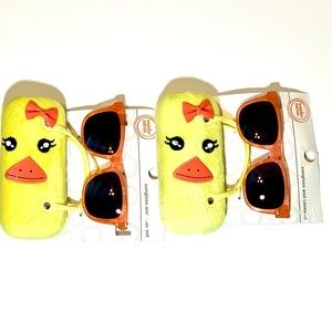 Orange Sunglasses & Yellow Duck Carrying Case